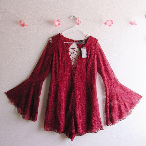 f1a7586f522 ON HOLD Red Lace Romper from Forever 21 🔥♥ Worn twice
