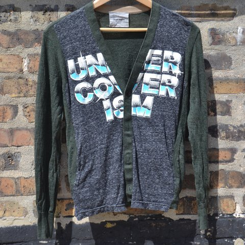 Undercover Chrome Cardigan Features An Olive Green And On Depop