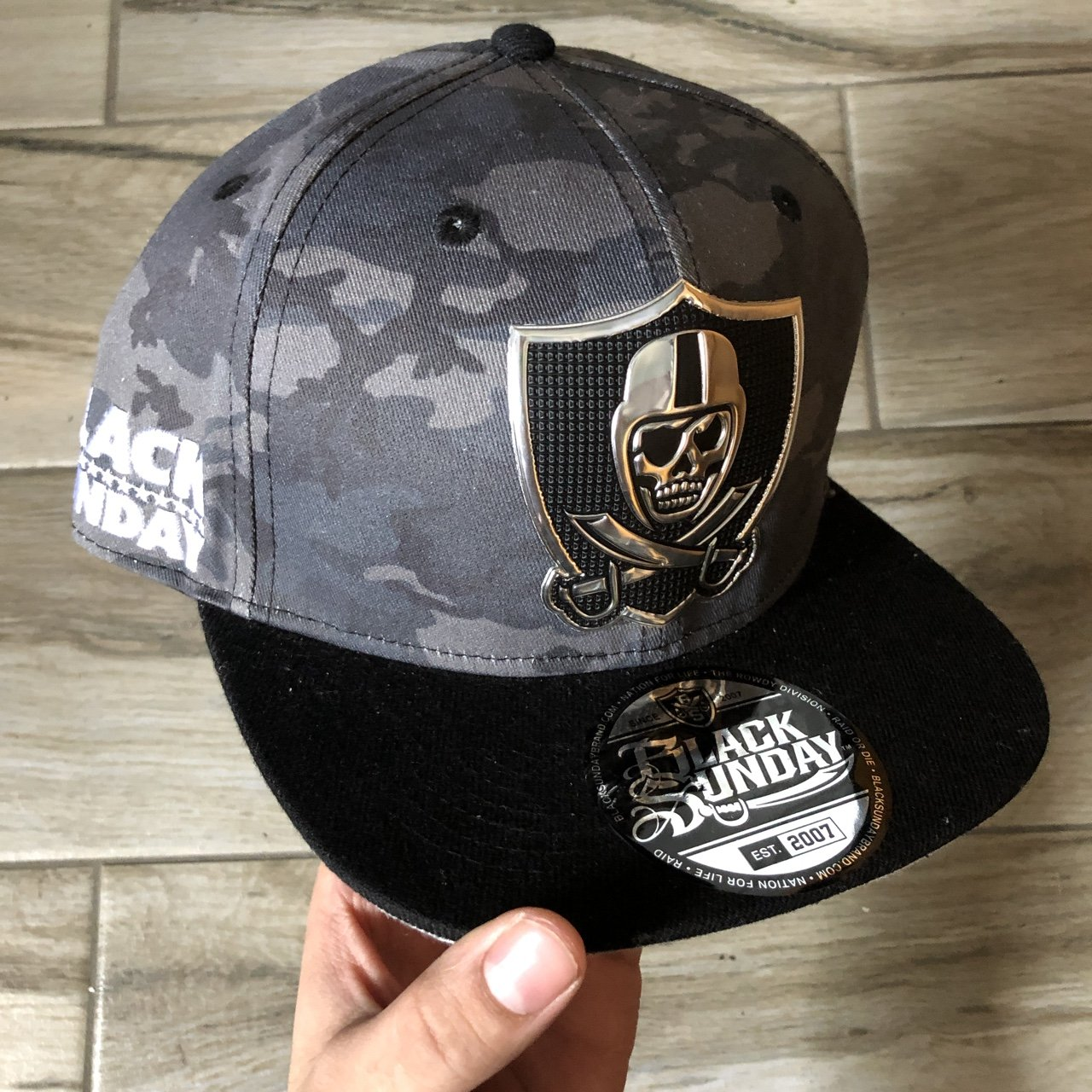 Black Sunday Raider Nation Inspired SnapBack cap. Very cool - Depop a586dce22