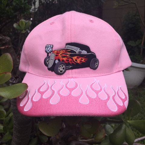 cbc16025ed86 Hot Rod Hat By Usa Hat Wear The Most Perfect Pink Depop
