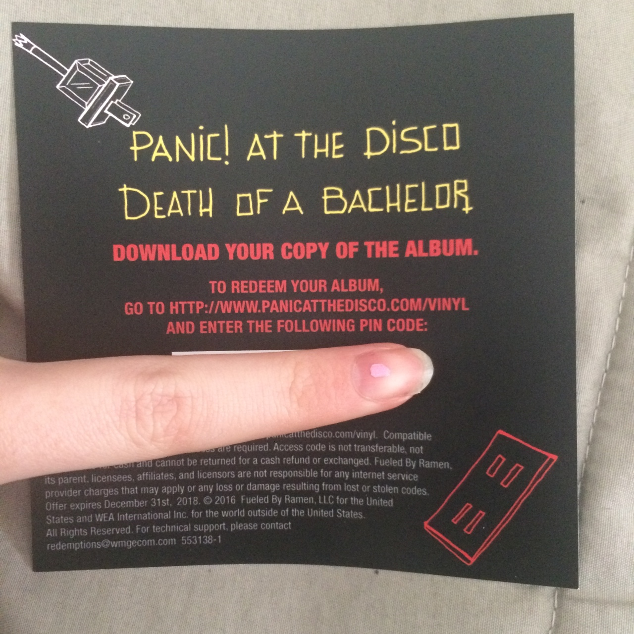 Panic! at the disco Death Of A Bachelor album    - Depop