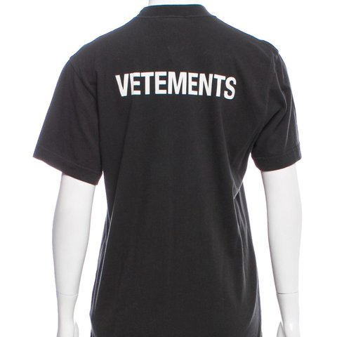 "6d38277aa163 Vetements crew neck ""staff"" tshirt. New with tags from Size - Depop"