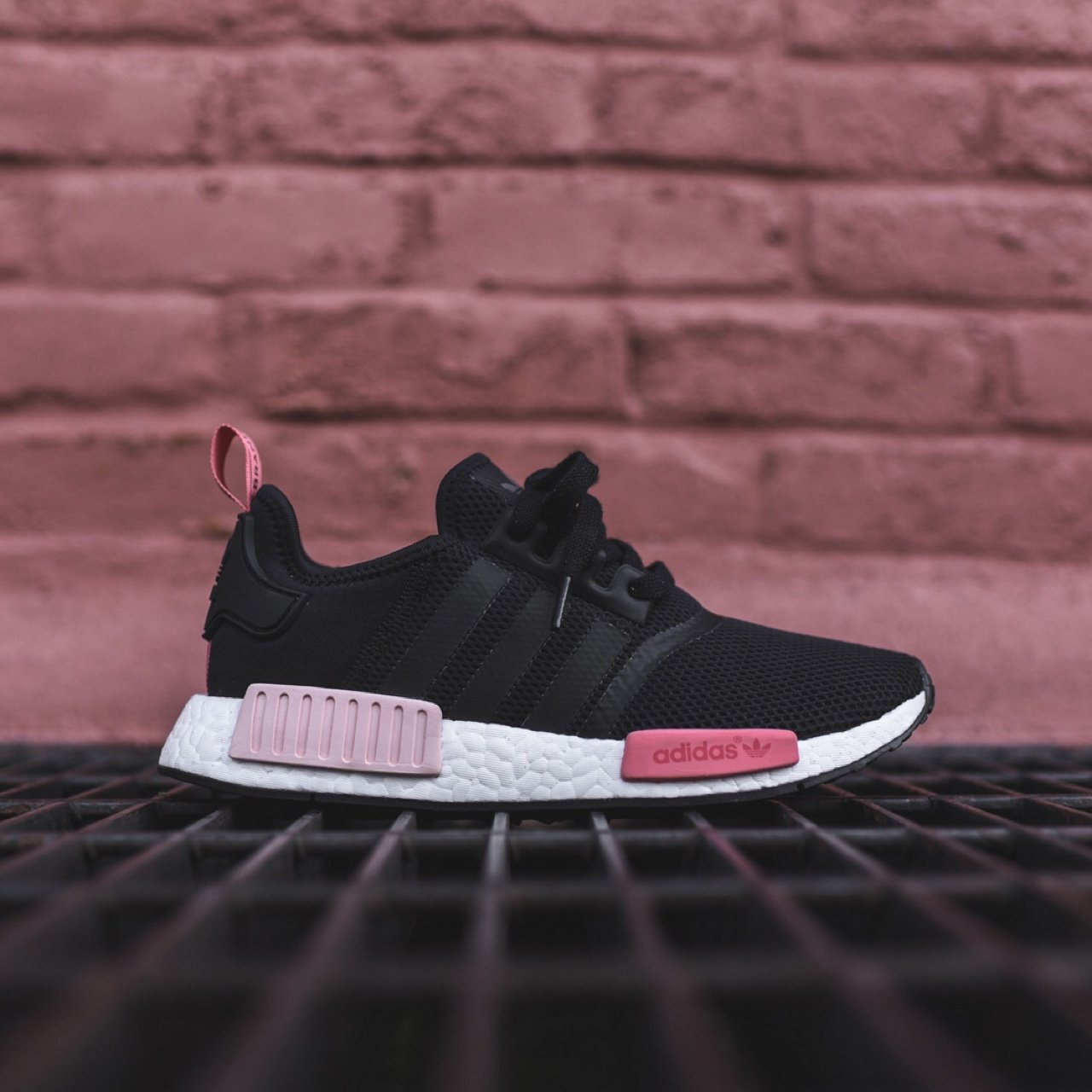 31407a9f8501f ADIDAS NMD RUNNER CORE BLACK PEACH PINK - new with tag and - Depop