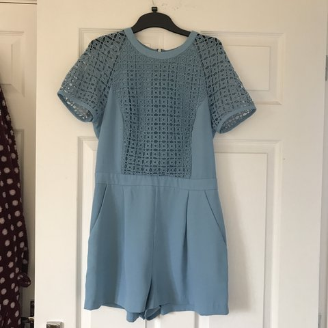 777f38a101 Topshop baby blue playsuit Size 10 💙 seen on Michelle   a - Depop