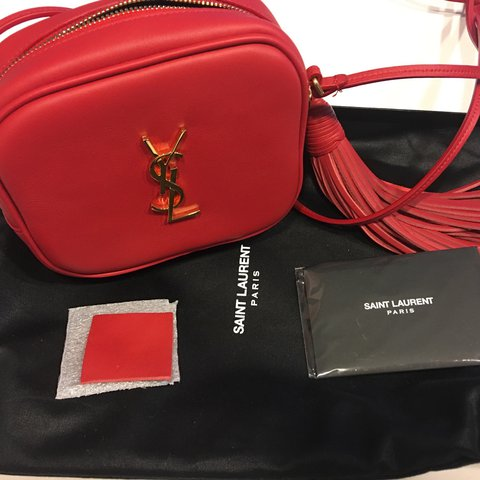 cc42bca3f92c Brand new YSL monogram Blogger bag in red leather. Comes and - Depop