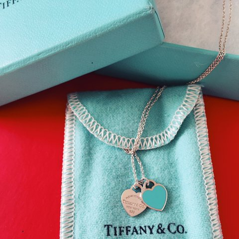 fd4813b83 Return to Tiffany™ #double heart tag #pendant Mini double in - Depop