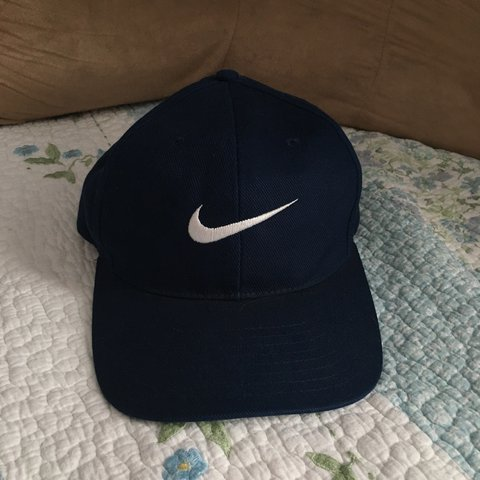 0841a76469e Nike adjustable navy blue hat. Bought off here from someone - Depop