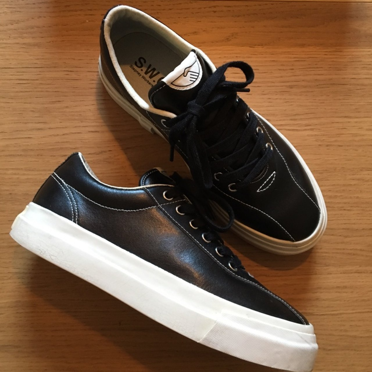 stepney workers club dellow leather sneaker