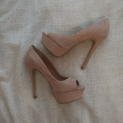 eeaf609be55 Pale pink  nude platform heels. I ll clean these before I - Depop