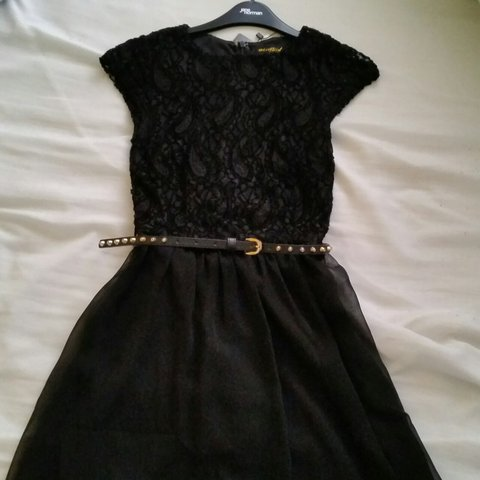 a2f2d2f0e0 Misssguided black skater dress, size 8 with tags in tact, up - Depop