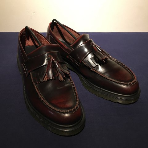 875e682cf44b98 Dr. Martens Adrian Tassel Loafers Cherry Red US 9 UK 8 Very - Depop