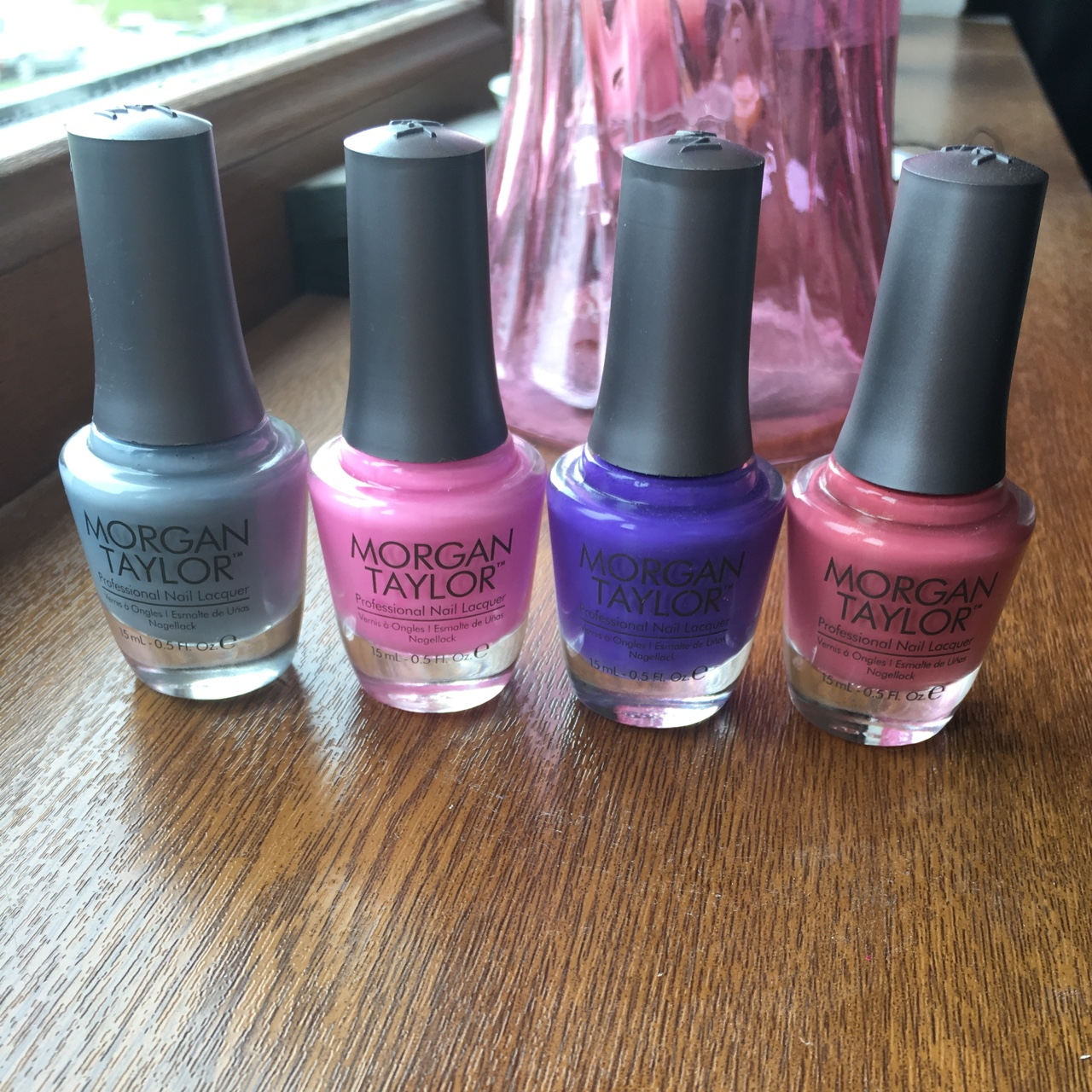 Morgan Taylor Nail polishes, Pink, Purple, Grey and    - Depop