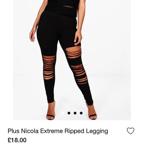 54f9e8e22651 Ripped look leggings! I'm just too short for them, the holes - Depop