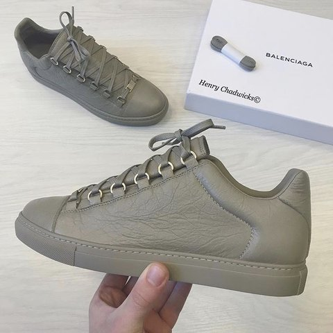 171ae9f6740   REDUCED   Authentic grey Balenciaga arena trainers - after - Depop