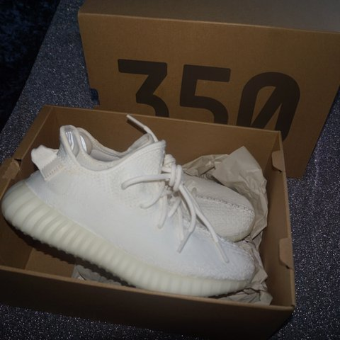 4ed5498cd Authentic Adidas Yeezy boost 350 v2 Triple White Size UK 6 - Depop