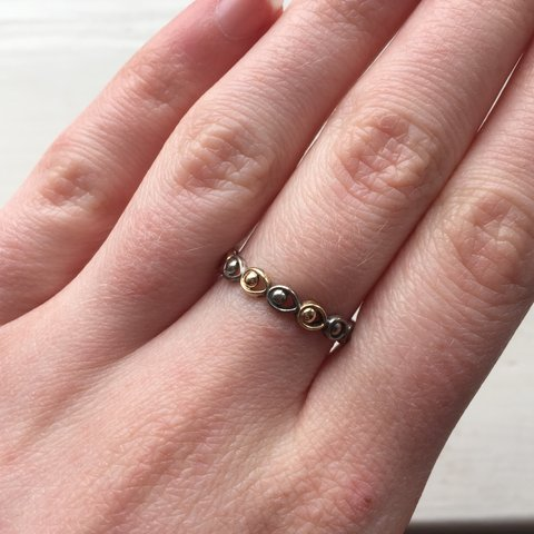 4cbb00177 @brionyvickers. 4 days ago. Chester, United Kingdom. Lovely mixed metal Pandora  ring, size ...