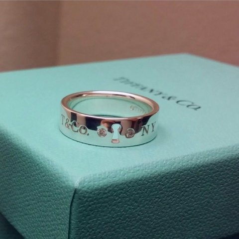 909157cbb TIFFANY LOCK RING Unwanted gift, bought in Brown Thomas for - Depop