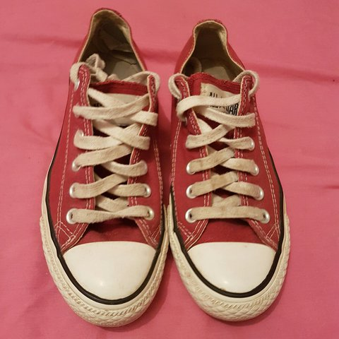 4448e17a798da3 Size 5 maroon converse all star. Little bit worn out and new - Depop