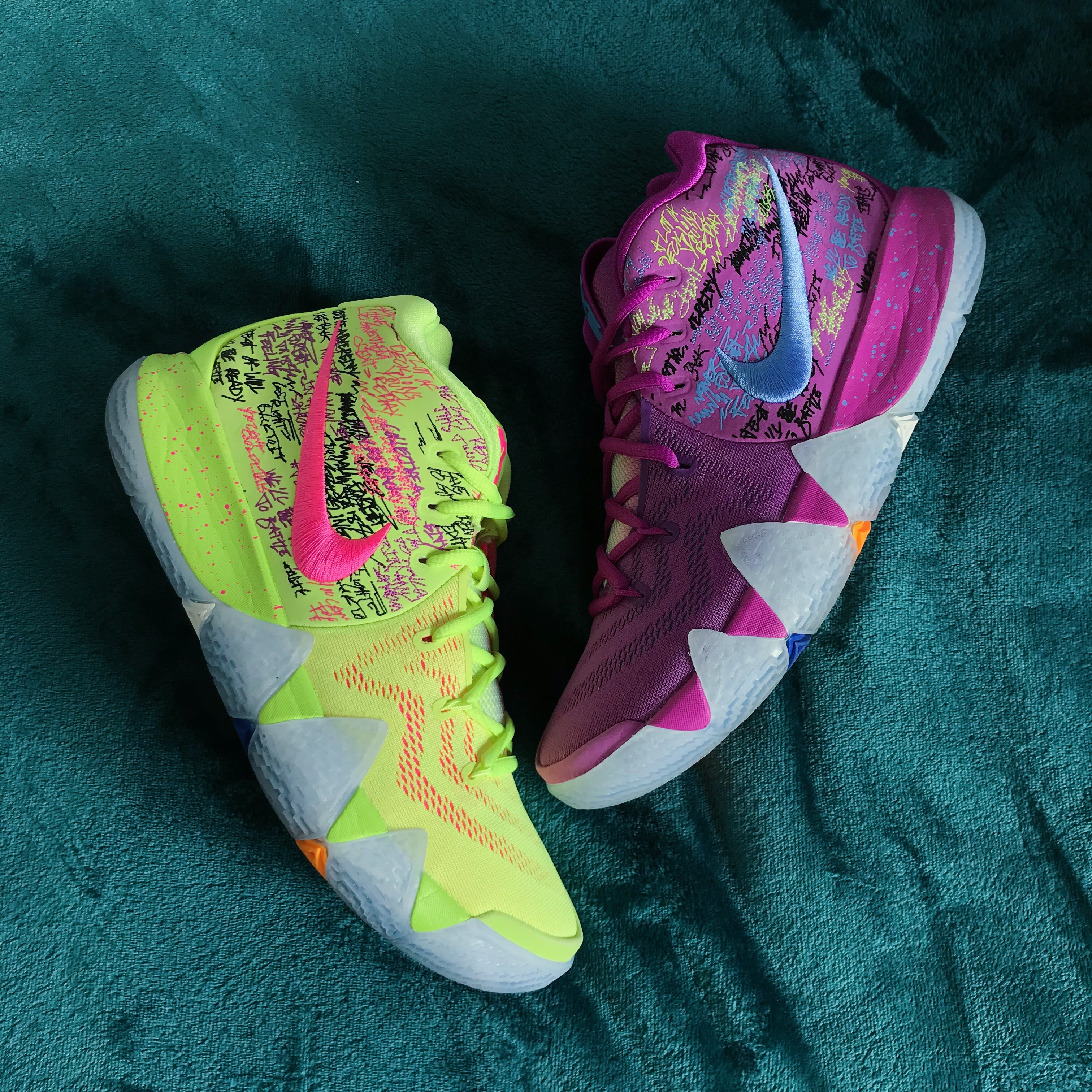 newest ed318 32555 Nike Kyrie 4 'Confetti' basketball shoes. Kyrie... - Depop