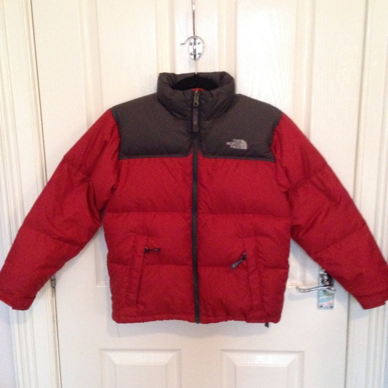 The North Face Red Nuptse Puffer Jacket Coat Size Boys Will - Depop f0c1fb4470