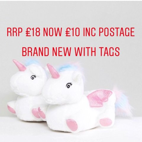 e436ef741c49 Sold out unicorn slippers from new look rrp £16 brand new - - Depop