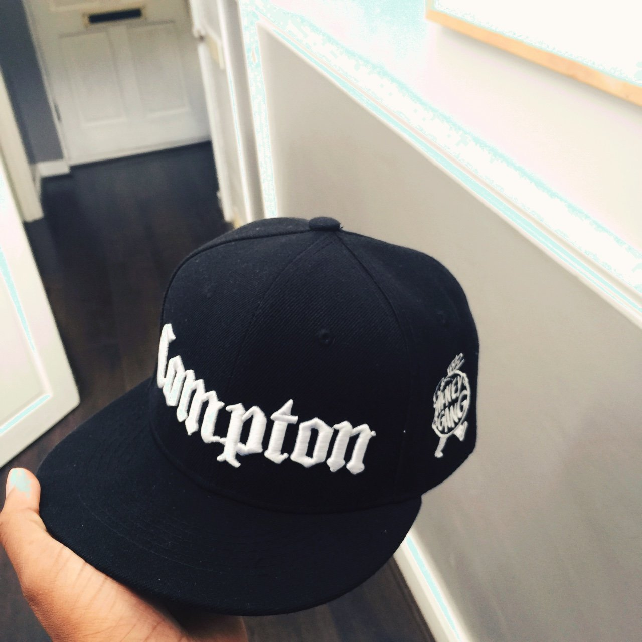 Straight outta Compton x Money Gang SnapBack black - Depop 8aca32703d4