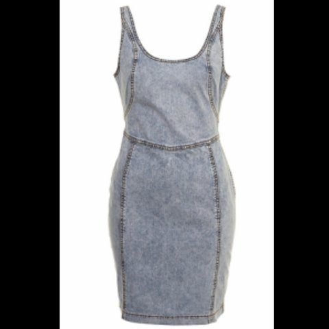 a610ef558d Topshop denim bodycon dress with low back and zip