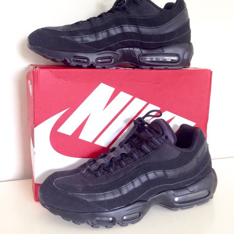 151bdd31620a19 Nike Air Max 95 s - triple black (not reflective ones) - uk - Depop