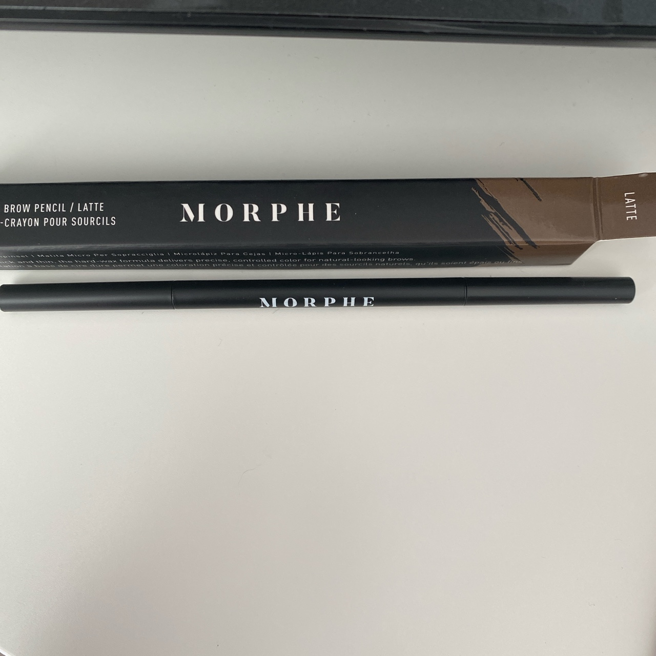 Morphe Micro Brow Pencil In Shade Latte Brand New Depop It doesn't feel waxy and it has just. morphe micro brow pencil in shade latte