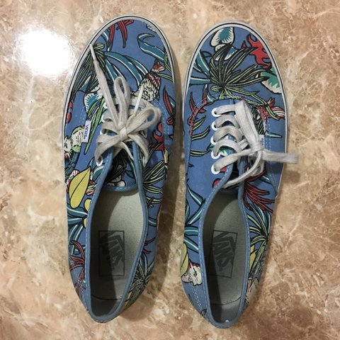 Tropical vans size 10. Condition 7.5 10. I never wear em so - Depop ca7f808eb