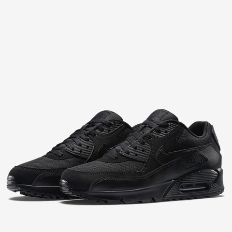 9e840546ef7b Nike air max 90 triple black Essentials - brand new without - Depop
