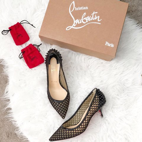0cfba6e018bc Christian Louboutin Guni Pump 55 Knot Patent. Authentic. ask - Depop