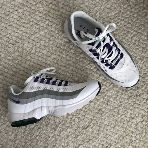 hot sale online 63750 68b32  thefashionmedley. 2 months ago. Montréal, Canada. Nike air max 95 white emerald  green wolf grey court purple