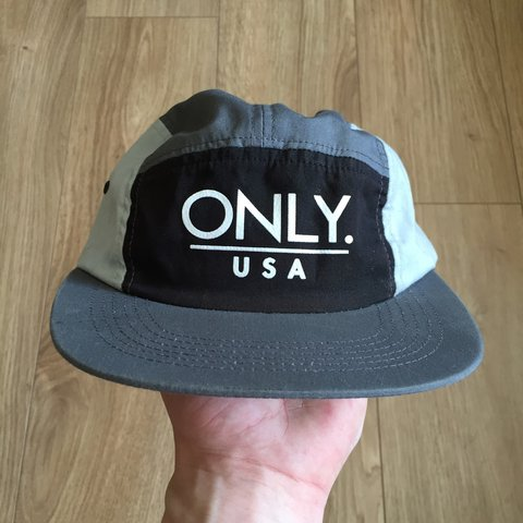 8708a186377 Only. NY 5 Panel Cap in Light Grey Dark Grey Black and One - Depop