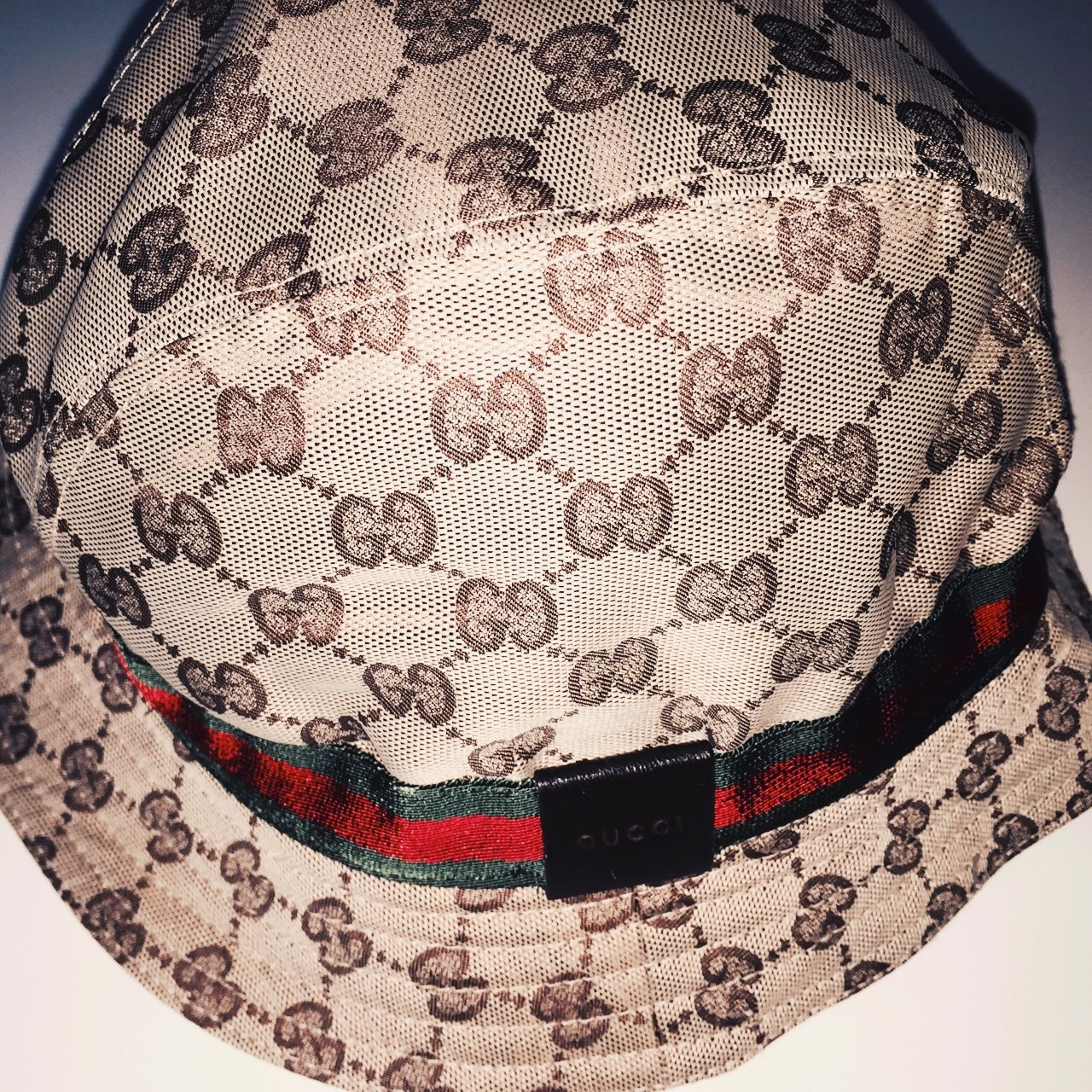 cca015b0fe118 Gucci original GG canvas bucket fedora hat. Made in Italy. L - Depop