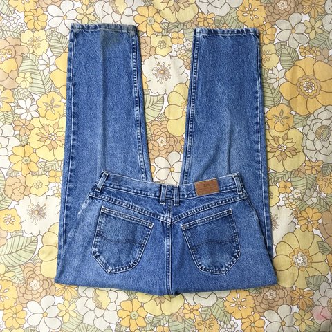3d65216c @nutshellvintage. 7 hours ago. Towcester, United Kingdom. Vintage mom jeans.  Retro Lee jeans, blue stone wash ...
