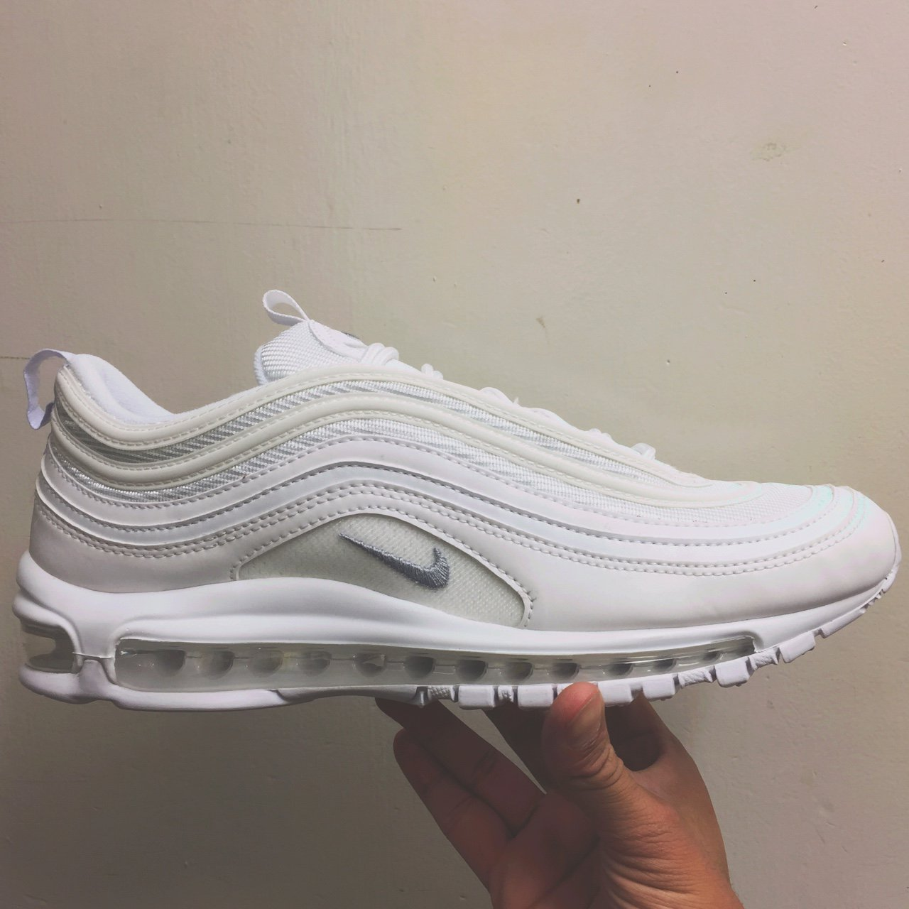 3a99c9620c1 ... cheap nike air max 97 triple white 3m reflective brand new in the depop  dea65 76776