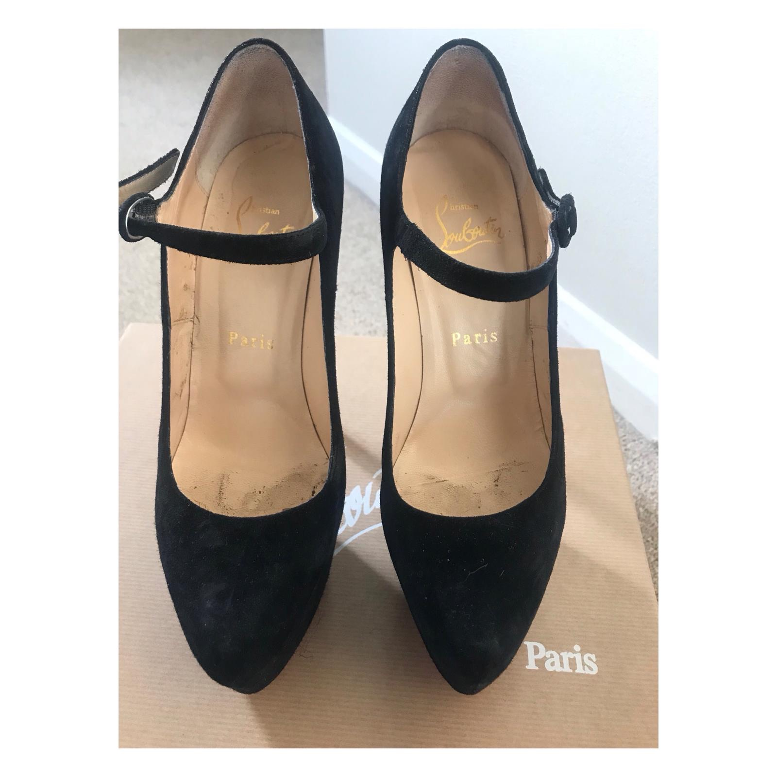 best authentic 42245 9d6c4 Christian Louboutin Lady Daf Mary Jane Heels in size... - Depop