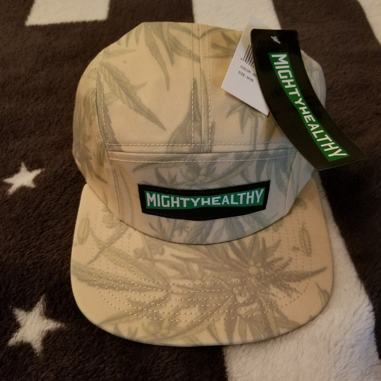 80fbfb604a6 Mighty healthy camp cap new with tags floral weed herbal - Depop