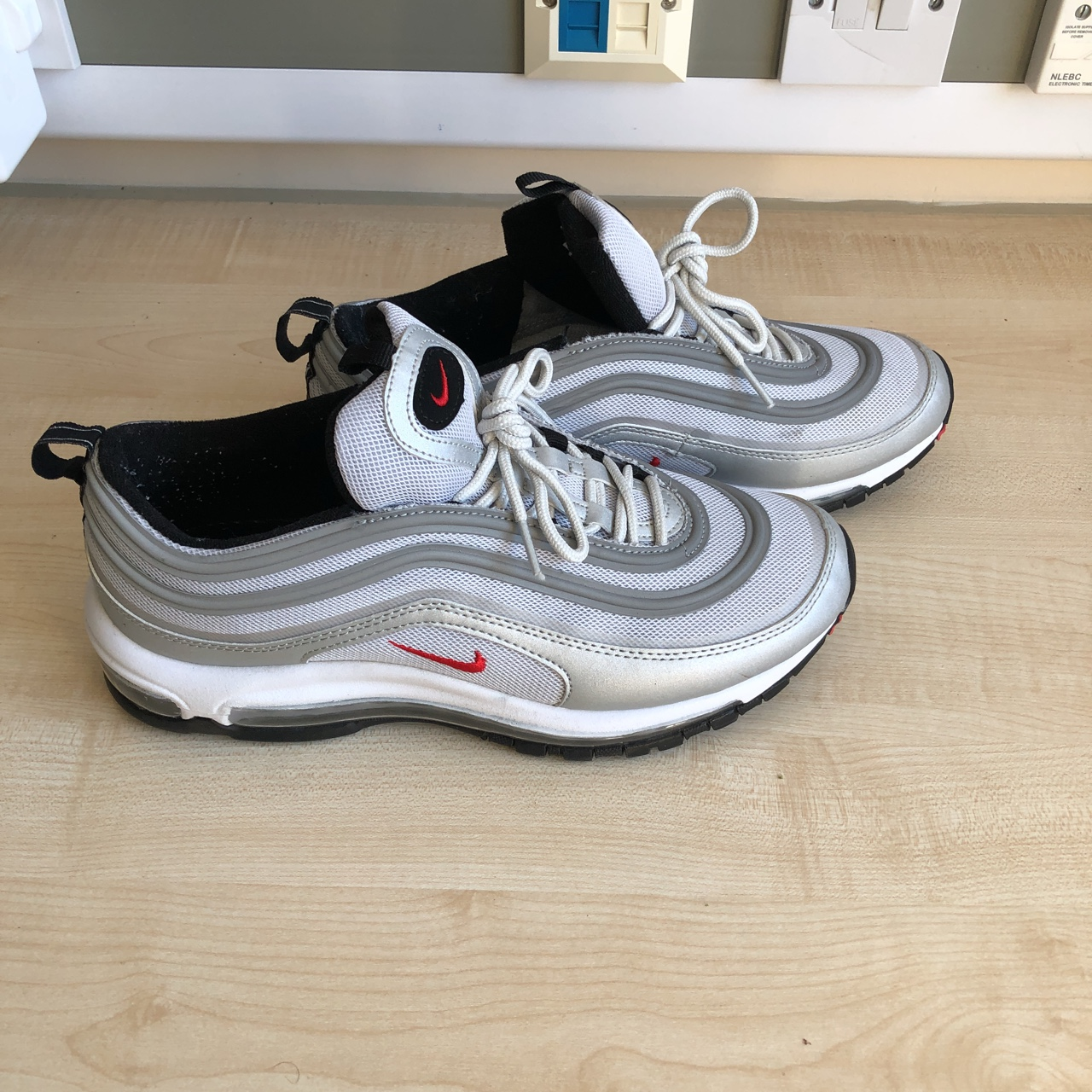 b2b5d5f847e AirMax 97 Silver bullet trainers. Fake but good... - Depop