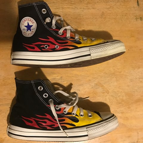 Vintage Flame Converse Chuck Taylor s. Great Condition. 8 a - Depop be487f2ce9