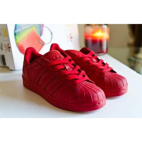 adidas superstar color pack red