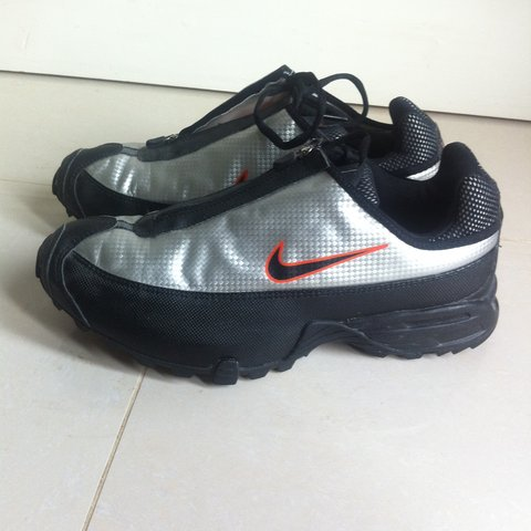 Vintage Nike Trainers, Sliver With Zip