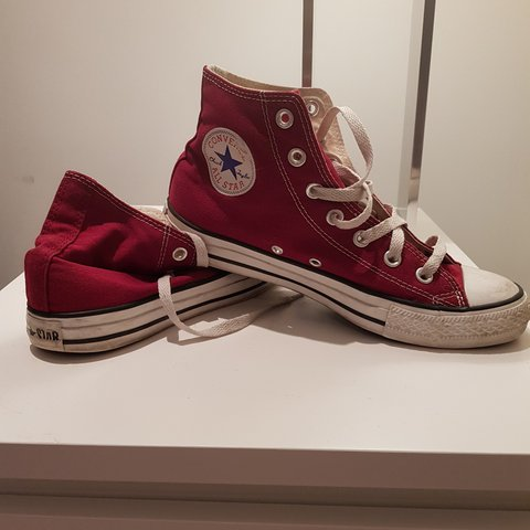 Cherry red converse. Size 6, for sale