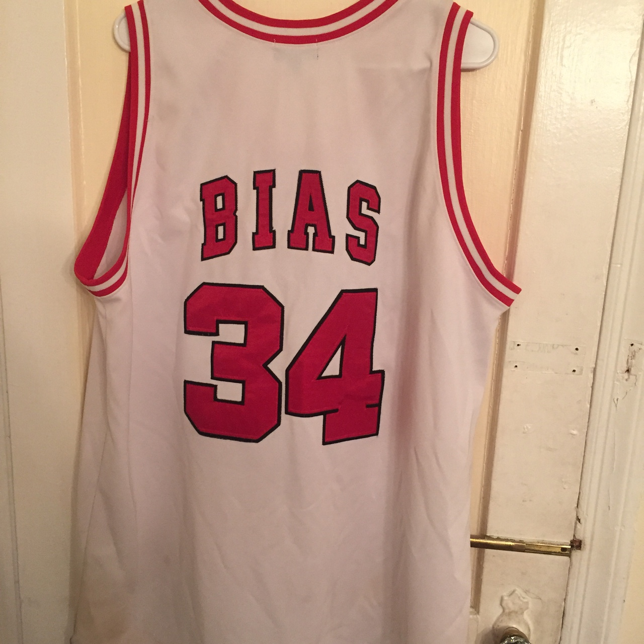 newest 04203 9ae02 100% Authentic Len Bias College Jersey - Depop