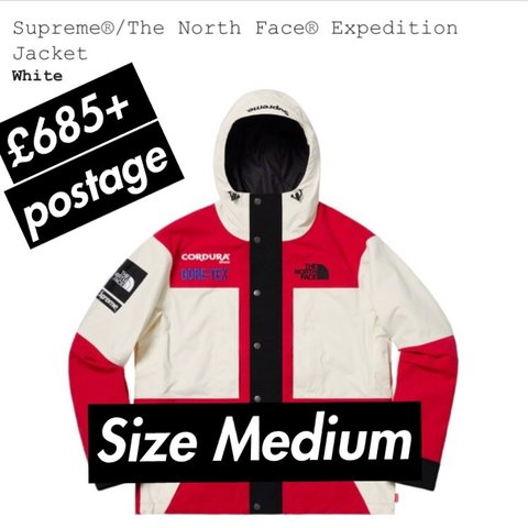 d35ee41c8f Here we have Supreme North Face expedition jacket size in to - Depop