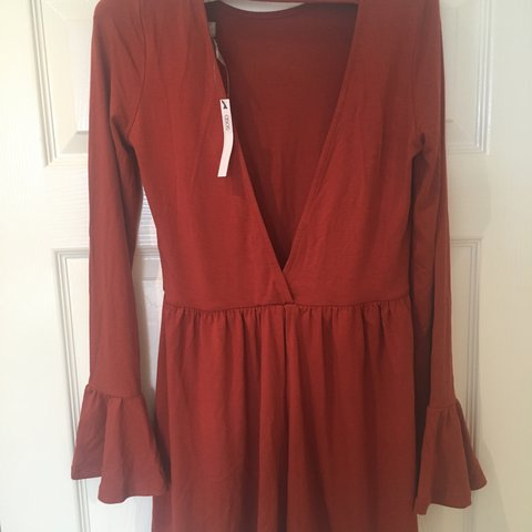 bfff7bfb62e BRAND NEW ASOS NEVER WORN ~ Gorgeous dark red playsuit with - Depop