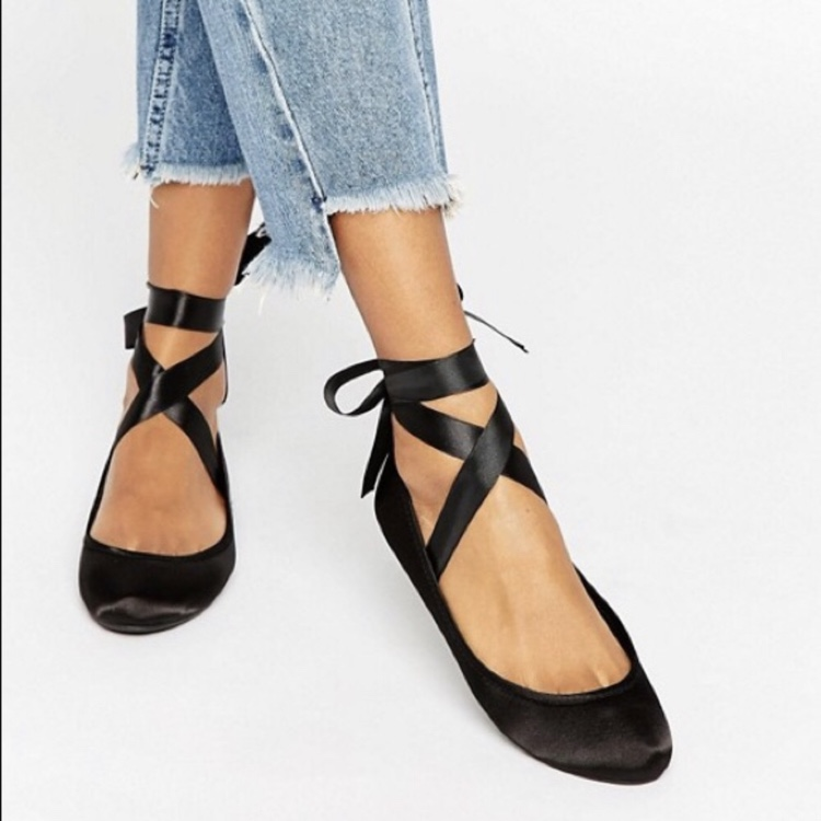tie up flats black where to buy e1957 dbded