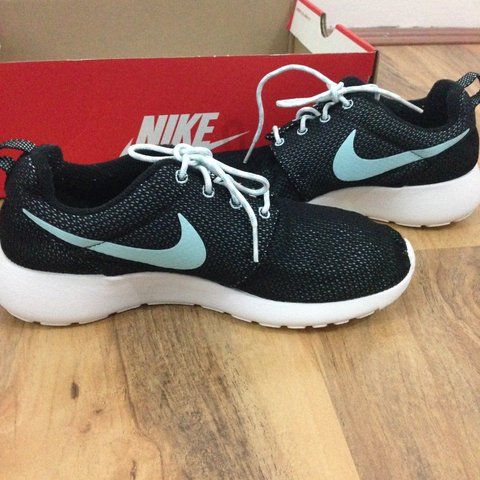 58e7ed6a5953d ... greece nike roshe black and light blue tick is light blue sold to depop  b3825 60d55