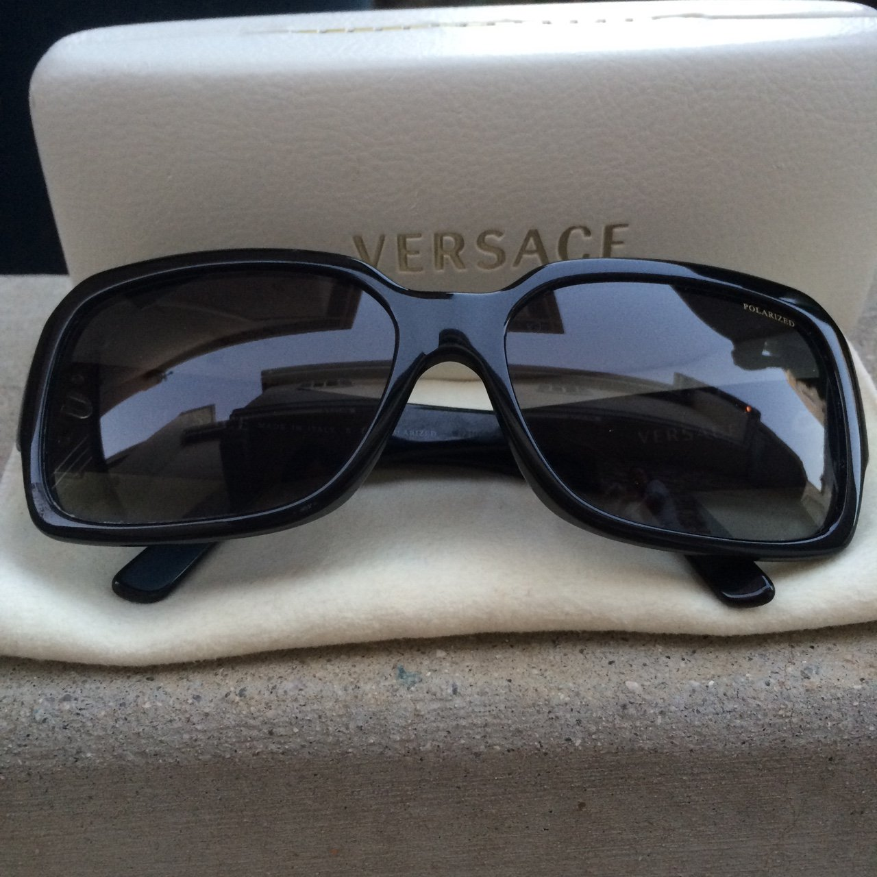 ee2c15e7ca04 Versace sunglasses. Brand new: used once. No scratches on on - Depop